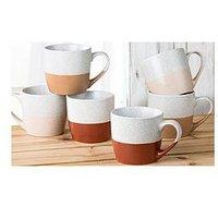 Product photograph showing Waterside Set Of 6 Desert Mugs