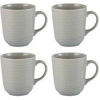 Product photograph showing Mason Cash William Mason Set Of 4 Embossed Mugs