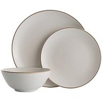 Product photograph showing Mason Cash Classic Collection 12-piece Dinner Set - Cream