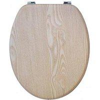 Product photograph showing Aqualona Oak Effect Toilet Seat