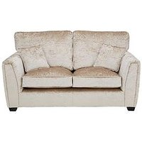 Product photograph showing Glitz Fabric Standard Back 2 Seater Sofa - Champagne