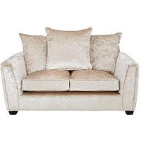 Product photograph showing Glitz Fabric 2 Seater Sofa - Champagne