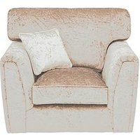 Product photograph showing Glitz Fabric Armchair - Champagne