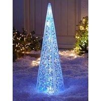 Product photograph showing 60 Cm Acrylic Tower Outdoor Christmas Light