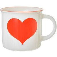 Product photograph showing Sass Belle Red Love Heart Mug