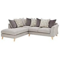 Product photograph showing Legato Left Hand Fabric Scatter Back Corner Chaise Sofa