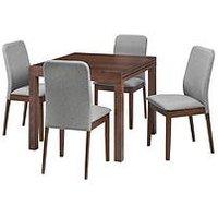 Product photograph showing Julian Bowen Melrose 90-180 Cm Extending Table 4 Berkley Chairs
