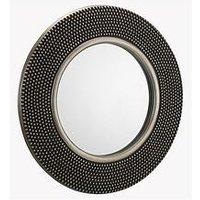 Product photograph showing Julian Bowen Adagio Round Studded Wall Mirror