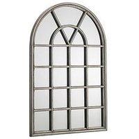 Product photograph showing Julian Bowen Opus Pewter Window Mirror