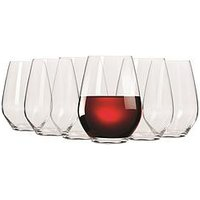 Product photograph showing Maxwell Williams Vino Set Of 6 Stemless Red Wine Glasses