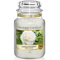 Product photograph showing Yankee Candle Garden Hideaway Collection Large Jar Candle Ndash Camellia Blossom