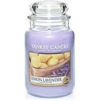Product photograph showing Yankee Candle Lemon Lavender Large Jar Candle And Reed Diffuser Set