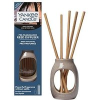 Product photograph showing Yankee Candle Black Coconut Pre-fragranced Reed Diffuser Starter Kit