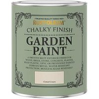 Product photograph showing Rust-oleum Garden Furniture Paint Clotted Cream 750ml