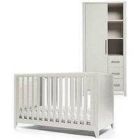 image-Mamas & Papas Melfi Cot Bed And Storage Wardrobe - Grey
