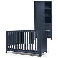 image-Mamas & Papas Melfi Cot Bed And Storage Wardrobe - Midnight Blue