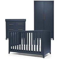 image-Mamas & Papas Melfi Cot Bed, Dresser Changer And Wardrobe - Midnight Blue