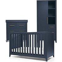 image-Mamas & Papas Melfi Cot Bed, Dresser Changer And Storage Wardrobe - Midnight Blue