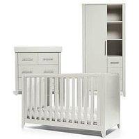image-Mamas & Papas Melfi Cot Bed, Dresser Changer And Storage Wardrobe - Grey