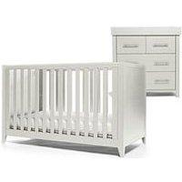 image-Mamas & Papas Melfi Cot Bed And Dresser Changer - Grey