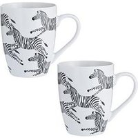 Product photograph showing Price Kensington Set Of 2 Zebra Mugs
