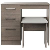 Product photograph showing Swift Halton Ready Assembled Dressing Table And Stool Set