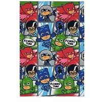 Product photograph showing Pj Masks Hero Time Fleece Blanket