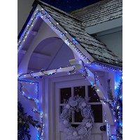 Product photograph showing Festive 1000 Arctic Firefly Indoor Outdoor Christmas Lights