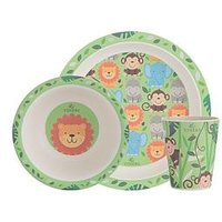 Product photograph showing Viners Jungle 3 Piece Kids Dinner Set