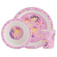 Product photograph showing Viners Fairies 3 Piece Kids Dinner Set