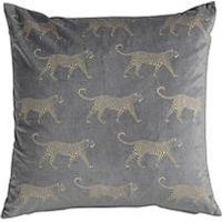 Product photograph showing Gallery Leopard Metallic Velvet Cushion