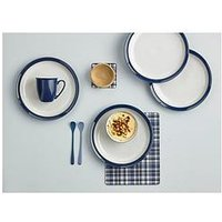 Product photograph showing Denby Elements Dark Blue Dinner Plates Ndash Set Of 4