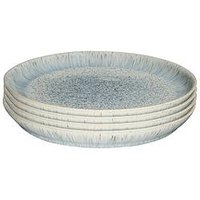 Product photograph showing Denby Halo Grey Speckle Dinner Plates Ndash Set Of 4