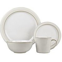 Product photograph showing Denby Natural Canvas 16-piece Dinner Set