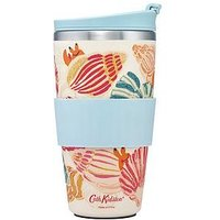 Product photograph showing Cath Kidston Bamboo Travel Cup Seaside Shells