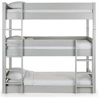 image-Julian Bowen Trio Triple Stacker Bunk Bed - Grey