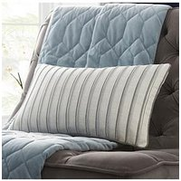 Product photograph showing Tess Daly Metallic Stripe Boudoir Cushion