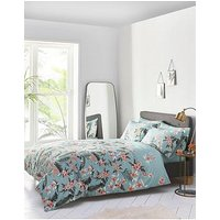 Product photograph showing Oasis Home Delray Palm Duvet Cover Set