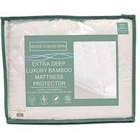 image-Cascade Home Hotel Collection Extra Deep Luxury Bamboo Mattress Protector &Ndash King Size