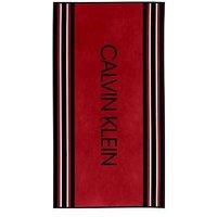 image-Calvin Klein Boarder Beach Towel