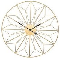 Product photograph showing Pacific Lifestyle Champagne Gold Metal Wall Clock