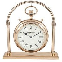 Product photograph showing Pacific Lifestyle Antique Brass And Glass Carriage Clock