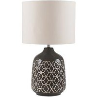 Product photograph showing Pacific Lifestyle Stratford Geo Ceramic Table Lamp