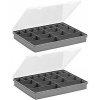 Product photograph showing Wham Organiser Boxes With 18 Divisions Ndash Set Of 2