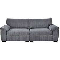 Product photograph showing Amalfi 4 Seater Standard Back Fabric Sofa