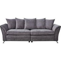 Product photograph showing Dury Fabric 4 Seater Scatter Back Sofa