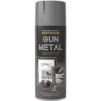 Product photograph showing Rust-oleum Elegant Gun Metal Grey 400ml