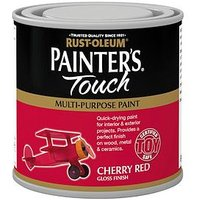 Product photograph showing Rust-oleum Painter Rsquo S Touch Toy Safe Gloss Finish Multi-purpose Paint Ndash Cherry Red 250ml