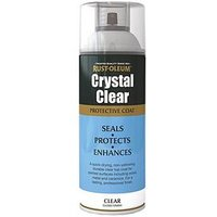 Product photograph showing Rust-oleum Crystal Clear Spray Paint Gloss 400ml