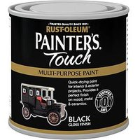 Product photograph showing Rust-oleum Painter Rsquo S Touch Toy Safe Gloss Finish Multi-purpose Paint Ndash Black 250ml
